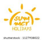 summer holidays symbol | Shutterstock .eps vector #1127938022