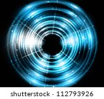 abstract circle blue shiny... | Shutterstock .eps vector #112793926