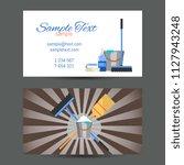 business card template of... | Shutterstock . vector #1127943248