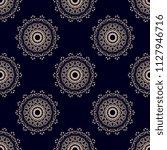 seamless damask wallpaper... | Shutterstock .eps vector #1127946716