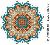 mandala flower decoration  hand ...   Shutterstock .eps vector #1127948738