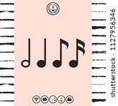 symbol of music  notes.... | Shutterstock .eps vector #1127956346