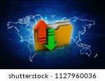 3d rendering folder with upload ... | Shutterstock . vector #1127960036