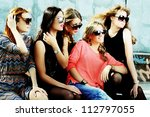 fashionable girls | Shutterstock . vector #112797055