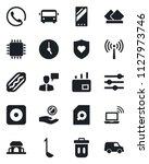 set of vector isolated black... | Shutterstock .eps vector #1127973746