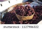 dry roselle in basket | Shutterstock . vector #1127986322