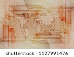 vintage world map background. | Shutterstock . vector #1127991476
