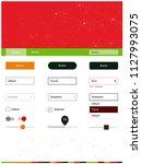 dark green  red vector material ...