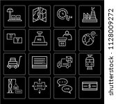set of 16 icons such as refund  ...