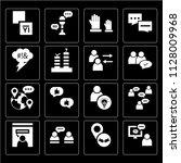 set of 16 icons such as online... | Shutterstock .eps vector #1128009968
