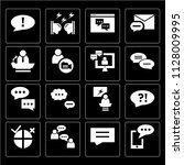 set of 16 icons such as sms ...
