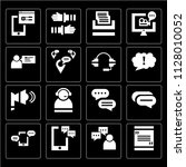 set of 16 icons such as quote ...