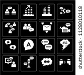 set of 16 icons such as dispute ... | Shutterstock .eps vector #1128010118