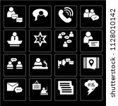 set of 16 icons such as... | Shutterstock .eps vector #1128010142