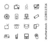 screen icon. collection of 16...   Shutterstock .eps vector #1128011516