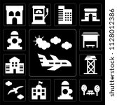 set of 13 simple editable icons ... | Shutterstock .eps vector #1128012386