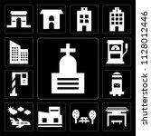 set of 13 simple editable icons ...   Shutterstock .eps vector #1128012446