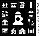 set of 13 simple editable icons ... | Shutterstock .eps vector #1128012542