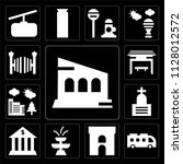 set of 13 simple editable icons ...   Shutterstock .eps vector #1128012572