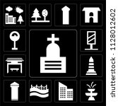 set of 13 simple editable icons ...   Shutterstock .eps vector #1128012602
