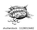 cocoa beans illustration.... | Shutterstock .eps vector #1128013682