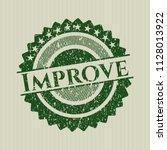 green improve distress grunge... | Shutterstock .eps vector #1128013922