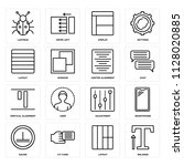 set of 16 icons such as enlarge ...