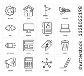 set of 16 icons such as edit ...