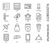 set of 16 icons such as group ... | Shutterstock .eps vector #1128023276