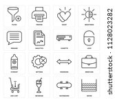 set of 16 icons such as water ... | Shutterstock .eps vector #1128023282
