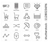 set of 16 icons such as filter  ...