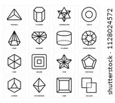 set of 16 icons such as exclude ...