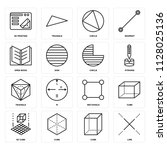 set of 16 icons such as line ...