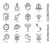 set of 16 icons such as file...