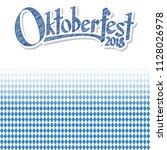 oktoberfest background with... | Shutterstock .eps vector #1128026978
