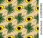 tropical seamless pattern with... | Shutterstock .eps vector #1128030482