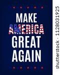 campaign slogan card. make... | Shutterstock .eps vector #1128031925