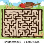 fun maze for kids  help the... | Shutterstock .eps vector #112804336