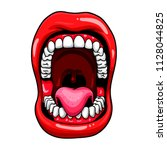 open mouth vector illustration | Shutterstock .eps vector #1128044825