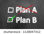 Crossed Plan A Ticked Plan B...