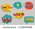 set of comic speech bubbles on... | Shutterstock .eps vector #1128049688
