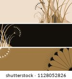 floral banners set with umbels... | Shutterstock .eps vector #1128052826