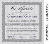grey diploma or certificate... | Shutterstock .eps vector #1128055448