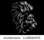 lion black head logo icon... | Shutterstock .eps vector #1128060545