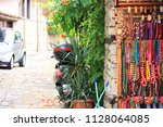 beads. colored multicolored... | Shutterstock . vector #1128064085