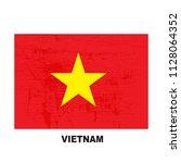vietnam flag isolated on white... | Shutterstock .eps vector #1128064352