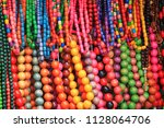 beads. colored multicolored...   Shutterstock . vector #1128064706