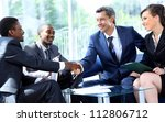 business people shaking hands... | Shutterstock . vector #112806712