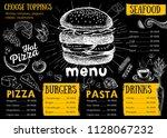 restaurant cafe menu  template... | Shutterstock .eps vector #1128067232
