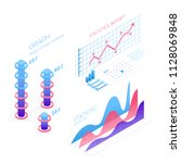 isometric infographic elements... | Shutterstock .eps vector #1128069848